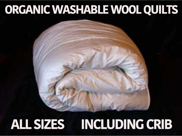 Organic Washable Wool Quilts