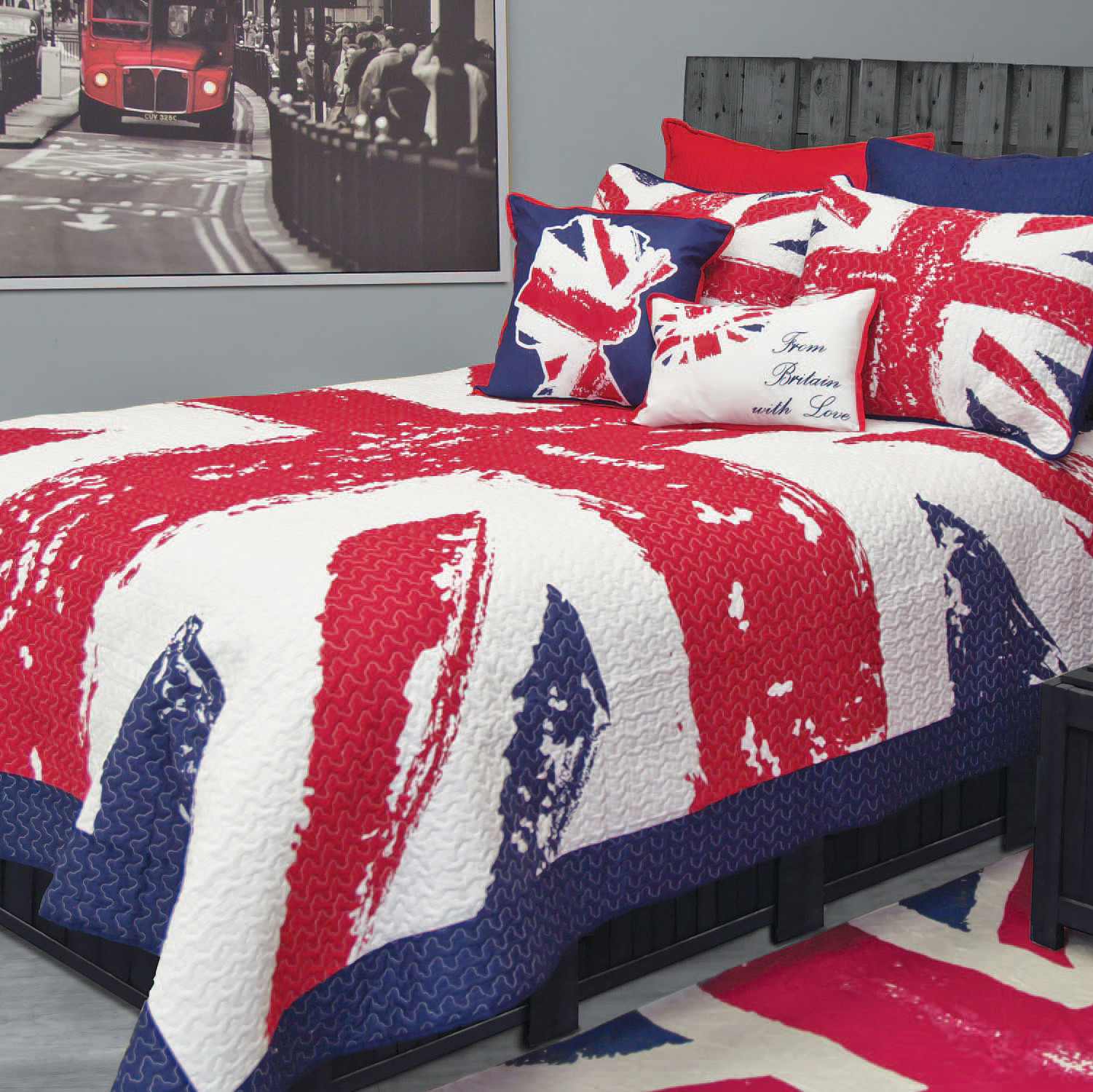 union jack by bedlam quilt north shore linens. Black Bedroom Furniture Sets. Home Design Ideas
