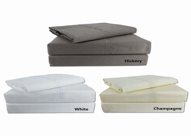 Granad 400 Thread Fitted Sheets and Pillow Cases. Twin Fitted $14.98 Twin Fitted XL $15.98 Queen $19.98 King Fitted $24.98 Pillow Cases $12.98 WOW!!
