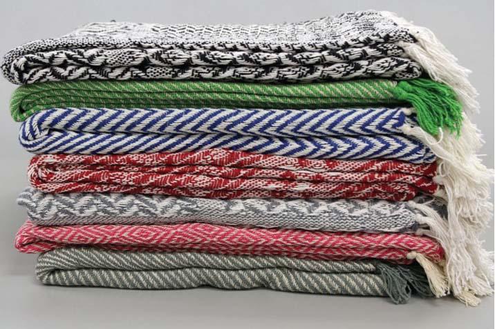 """Kevara Cotton Throws 100% Cotton 50"""" x 60"""". 7 Colours Reg $29.98 NOW $11.98"""