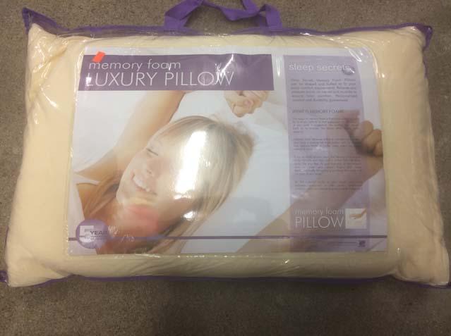 "Memory Foam Pillow <strike>Reg $29.98</strike> <font color=""red"">Now $8.98</font>"