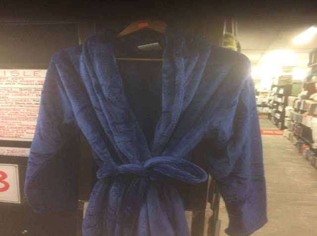 Micro Fibre Super Soft Bath Robes in Blue and Burgandy. Reg $69.98 Now $19.98 WOW!!