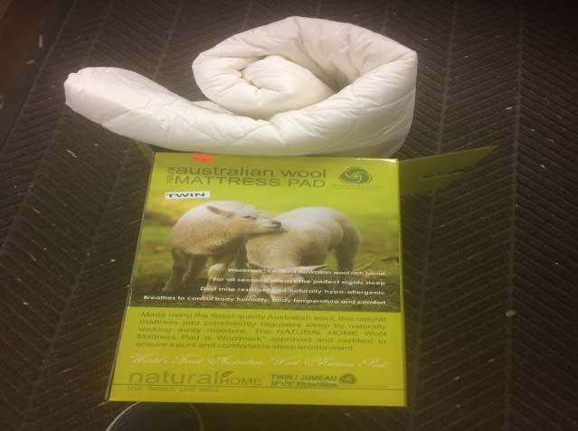 "Wool Filled Mattress Pads<strike>Reg $79.98 - $89.98 </strike> <font color=""red"">Now $29.98 - $39.98 </font>WOW!!"