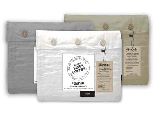 LOVE LINEN !!  These gorgeous sheets will give you the softness of cotton and the breathability of linen. $49.98 – $139.98