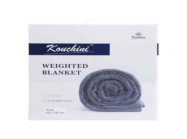 Weighted Blankets in 10, 15 and 20lbs By Kouchini With Separate Washable Cover