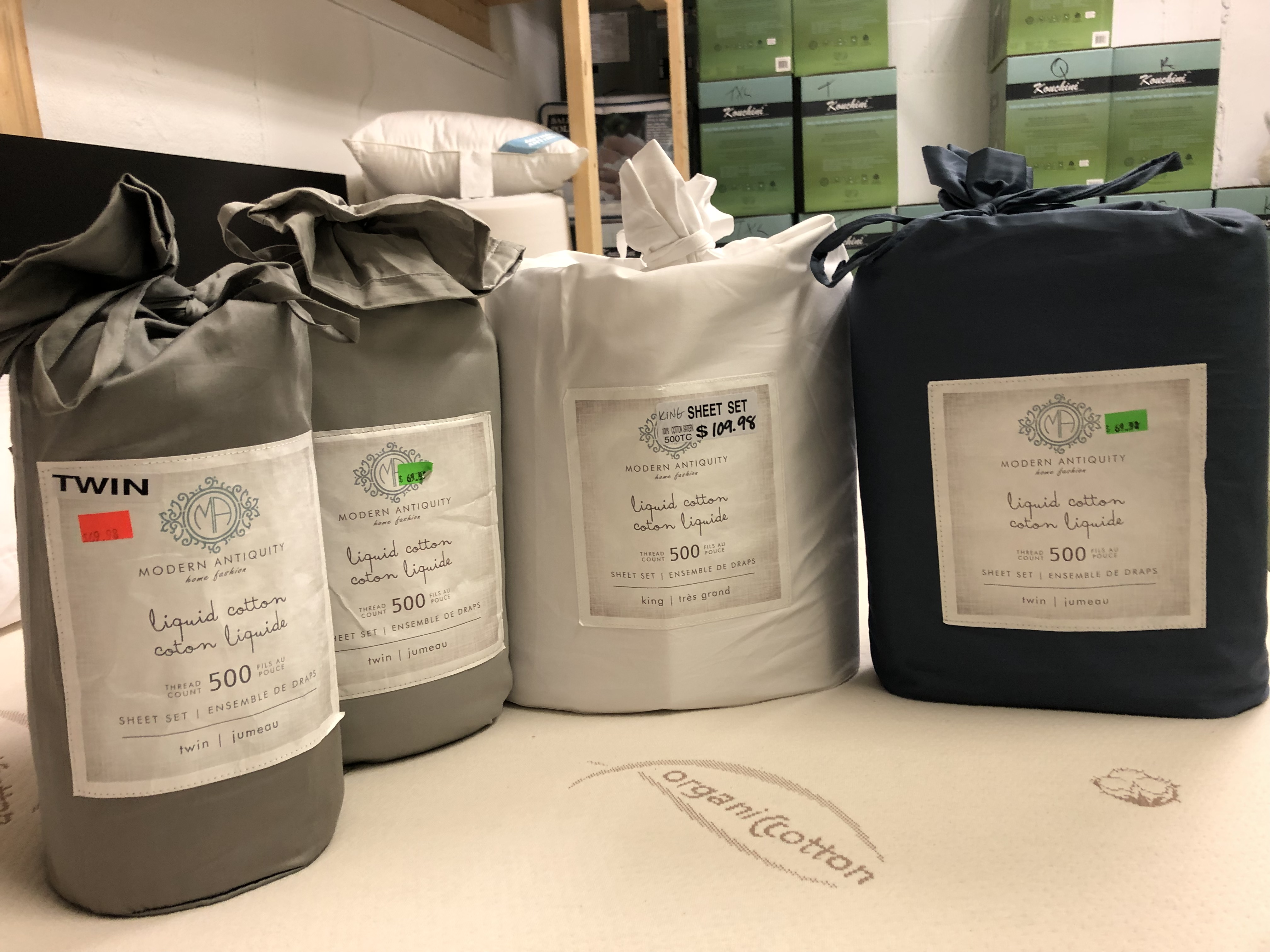 Liquid Cotton Sheets by Modern Antiquity (back in stock)